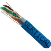 Vertical Cable, 057-469/S/BL, Cat 5E STP 1000' 4 Pair Bulk Blue-PVC Jacket AWG24 Solid-Bare Copper