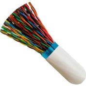 Vertical Cable, 057-487/S/WH500, Cat 5E STP 25 Pair Bulk White PVC Jacket 24 AWG Bare Copper 500 Ft