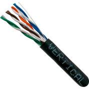 Vertical Cable, 058-476/ST/BK, Cat 5E 24AWG UTP 4 Pair Stranded Bare Copper Black PVC Jacket 350 MHz