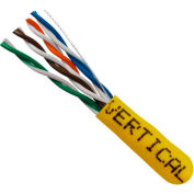 Vertical Cable, 058-483/ST/YL, Cat5E 24AWG UTP 4 Pair Stranded Bare Copper Yellow PVC Jacket 350 MHz