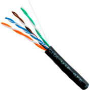 Vertical Cable, 059-488/WS/CMX, Cat 5E UV Jacket For Outdoor Use (CMX) Black Wood Spool