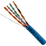 Vertical Cable, 066-546/PBX/BL, Cat 6 24AWG UTP 4 Pair Spline-Less 250Mhz Plenum Rated PVC Blue