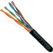 Vertical Cable, 066-554/P/BK, Cat 6 23AWG UTP 4 Pair Spline-Less 550Mhz Plenum Rated PVC Black