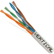 Vertical Cable, 066-559/P/WH, Cat 6 23AWG UTP 4 Pair Spline-Less 550Mhz Plenum Rated PVC White