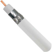 Vertical Cable, 107-1237WH6S1BX, RG6 Standard Shield, 18AWG Solid CCS W/Alumn Shld Braid, White