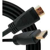Vertical Cable, 243-1950/15H, HDMI Male To Male W/Internet 1080P 30 AWG 15 Ft Gold Plated Black