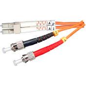 Vertical Cable 261-LCST/3MM, Fiber Optic Patch Multimode 62.5 LC-ST PVC, 9.84 Ft