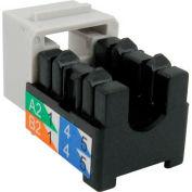 Vertical Cable 351-V2616/GY Cat 5E V-Max U-Style Keystone Jack - Gray