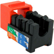 Vertical Cable 351-V2618/OR Cat 5E V-Max U-Style Keystone Jack - Orange