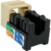 Vertical Cable, 302-J2518/AL, Cat 6 V-Max U-Style Keystone Jack - Almond