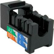 Vertical Cable, 302-J2519/BK, Cat 6 V-Max U-Style Keystone Jack - Black