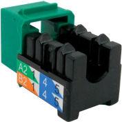 Vertical Cable 352-V2715/GR Cat 6 V-Max U-Style Keystone Jack - Green