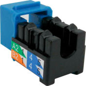 Vertical Cable, 303-J2629/C6ABL, Cat 6A V-Max U-Style Keystone Jack - Blue