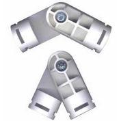 "Adjustable Joint Fitting, 1""Dia., Furniture Grade Pvc, White - Pkg Qty 10"