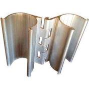 """Snap-On Hinge, 3""""L, 1""""Dia., Aluminum - Pkg Qty 4"""