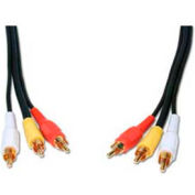Comprehensive Video Cable, Standard Series, General Purpose, 3 RCA, 15'