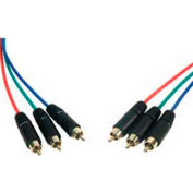 Comprehensive Component Video Cable, HR Pro Series, 3 RCA Plugs Each End, 25'