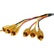 Comprehensive Plenum Video Cable, 3 RCA, Yellow/Red/Black, 10'
