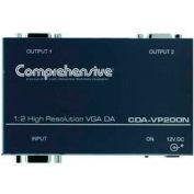 Comprehensive VGA Splitter And Distribution Amplifier, 1X2 VGA/XGA DA, 400 MHz, DC Coupling, ID Bit