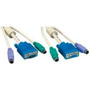 Comprehensive VGA KVM Cable, HD15M/F & MD6M & MD6M, 6'