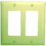 Comprehensive Wallplate Cover, Double Gang, White Decora