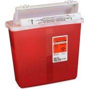 Covidien 5-Quart SharpStar™ In-Room™ Sharps Container, Transparent Red