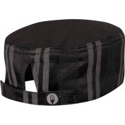 Chef Works®  HB003BGY0 - Brooklyn Cool Vent™ Beanie, Black/ Gray, One Size Fits Most
