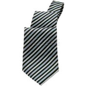 Chef Works® Silver Diagonal Striped Tie - T0000SDI0