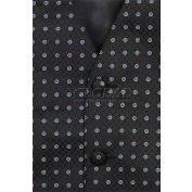 Chef Works® Men's Vest, Black W/Blue Polka Dot, 3XL - VPM5BK43XL
