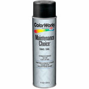 Krylon Industrial Colorworks Enamel Flat Black - CWBK01017 - Pkg Qty 6