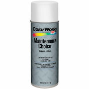 Krylon Industrial Colorworks Enamel Flat White - CWBK01037 - Pkg Qty 6