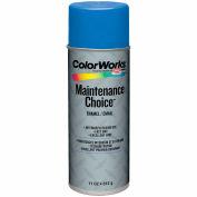 Krylon Industrial Colorworks Enamel Saftey Blue - CWBK01087 - Pkg Qty 6