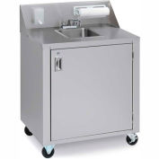 Crown Verity CV-PHS-1C Cold Water Portable Hand Sink Cart