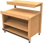 Cayuga TB-FA-302-PR - Mobile 2 Level Produce Table With Adjustable Shelf