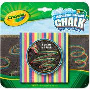 Crayola® Washable Sidewalk Chalk 4 Colors in 1, Assorted, 5 per Set