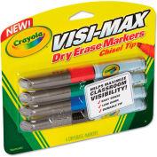 Crayola® Dry Erase Marker, Chisel Tip, Broad,  Assorted Colors, 4/Set