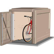 CycleSafe ProPark® Heavy Duty Modular Bike Locker Starter Unit, 2 Bicycles, 2 Doors, Sandstone