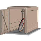 CycleSafe ProPark® Heavy Duty Modular Bike Locker Adder Unit, 1 Bicycle, 1 Door, Sandstone