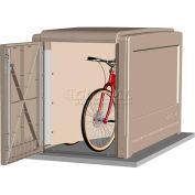 CycleSafe ProPark® Heavy Duty Modular Bike Locker Adder Unit, 2 Bicycles, 2 Doors, Sandstone