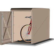 CycleSafe EcoPark® Economical Bike Locker Starter Unit, 2 Bicycles, 2 Doors, Sandstone