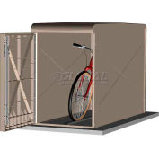 CycleSafe EcoPark® Economical Bike Locker Starter Unit, 1 Bicycle, 1 Door, Sandstone