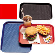 """Cambro 1014FF163 - Tray Fast Food 10"""" x 14"""",  Red - Pkg Qty 24"""
