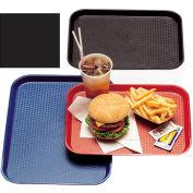 "Cambro 1418FF110 - Tray Fast Food 14"" x 18"",  Black - Pkg Qty 12"