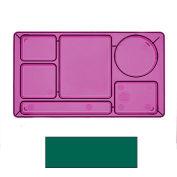"Cambro 915CW119 - School Tray 2 x 2 10"" x 14"", Sherwood Green - Pkg Qty 24"