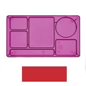 "Cambro 915CW404 - School Tray 2 x 2 10"" x 14"", Red - Pkg Qty 24"