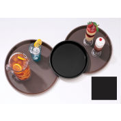 "Cambro PT1100110 - Tray Polytread 11"" Round,  Black - Pkg Qty 12"