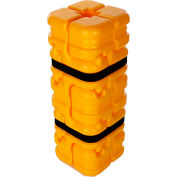"""Column Sentry® FIT Column Protector, 4""""- 8"""" Square Openings, 16"""" O.D. x 42""""H"""", Ylw, CS-FIT-S-Y"""