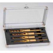 Delta 17-005 4 Pc. Professional Mortising Chisel & Bit Set For 14-651 Bench Mortiser