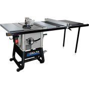 Delta 36-5052 10 In. Left Tilt Table Saw W/52 In. Right Rip, Steel Extension Wings