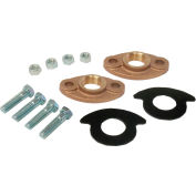 "Dake Couplings 2035-C-2-LF, Lead Free Brass Flange Kit 2 2"" Flanges, Drop In Gaskets & 4 Nuts, Bolts"